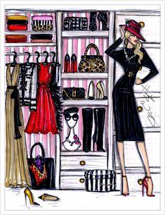 Hayden Williams Fashion Illustrations: Fashion Closet by Hayden Williams