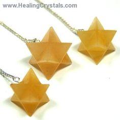 Pendulum - Yellow Aventurine Merkaba Pendulums- Yellow Aventurine - Healing Crystals