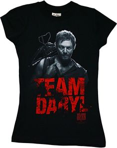 Amazon.com: The Walking Dead Team Daryl Dixon Officially Licensed AMC Juniors Girls T-shirt S: Clothing