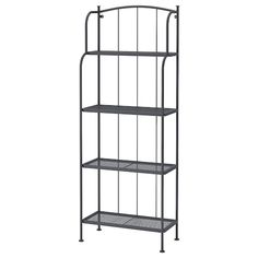 IKEA - LÄCKÖ, Shelving unit, outdoor, Stands evenly on an uneven floor since the feet can be adjusted.The materials in this outdoor furniture require no maintenance.Easy to keep clean – just wipe with a damp cloth.