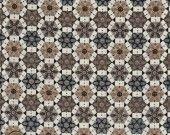 Coupon de tissu avec un imprimé Kaleidoscope beige et marron : Tissus Habillement, Déco par mercerie-de-rosalie