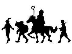 silhouet sinterklaas - Google zoeken Silhouette Curio, Silhouette Portrait, Silhouette Cameo Projects, Thema Deco, Illustration, Children Images, Christmas Activities, Christmas Projects, Winter Wonderland