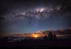 the horizon to the west of Wellington, New Zealand
