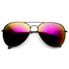 Black Metal Aviator Sunglasses With Flash Revo Lenses 1494 60mm from zeroUV