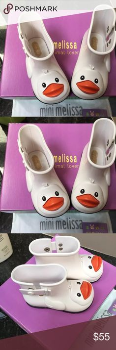 Mini Melissa Rain Boots 7 New Brand new with box and dust bag Mini Melissa Shoes Rain & Snow Boots