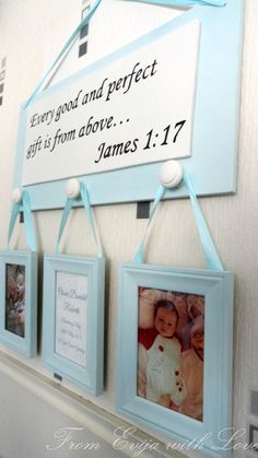 DIY - christening, baptism present for baby boy. Quote, bible quote, sign photo DIY, tutorial on the blog