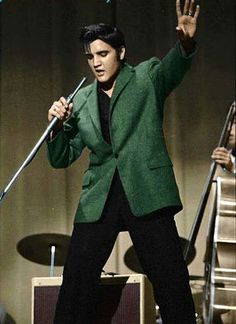 Elvis in the green coat: