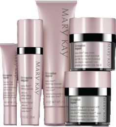 """MK Timewise Repair Volu Firm, the most advanced Skin Care Set yet by Mary Kay! Repairs, adds volume and puts youthful """"lift"""" back in your skin. The magic ingredient """"Retinol"""" is in the Night Cream. You do not need any other products, this does it all!! Just $199.00 for this FANTASTIC 5 piece set!   ***FREE SHIPPING (usa only)***   www.marykay.com/crystaltimbes"""