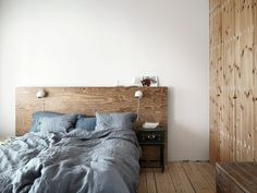 Beautiful headboard inspiration for the bedroom Diy Bed Headboard, Plywood Headboard, Headboard Designs, Headboards For Beds, Home Bedroom, Bedroom Decor, Best Sheets, Built In Bed, Bedding Inspiration