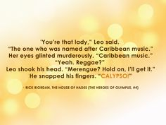 #calypso #caribbean #rickriordan