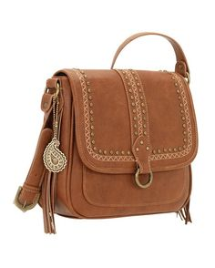 Bandana by American West Women's Missoula Crossbody Flap Bag - Saddle Tan