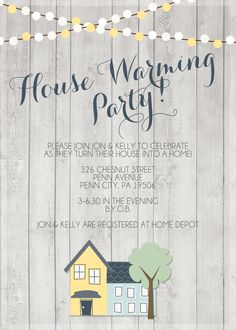House Warming Party Invitation Printable by SplashOfSilver