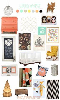 Girlish Whimsy (Baby girl room design)