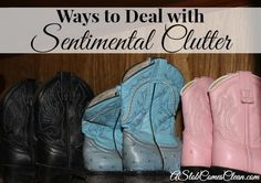 Strategies for Dealing with Sentimental Clutter at ASlobComesClean.com