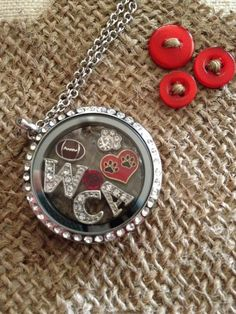 Football! Show your team support with a sports themed locket! #SHD   http://www.facebook.com/erinscharmedlife http://www.southhilldesigns.com/acharmedlife