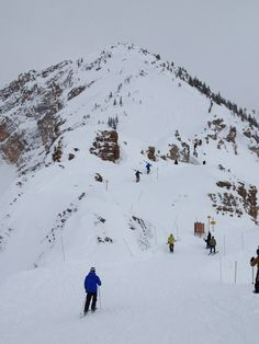 Awesome climb for some rewarding skiing at Kicking Horse Mountain Resort in Golden, BC.