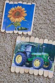 Lolly stick jigsaws