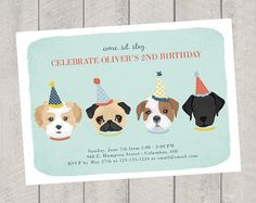 Puppy party invitation puppy birthday invitation puppy invitation dog theme birthday invitation children by deliveredbydanielle filmwisefo Gallery