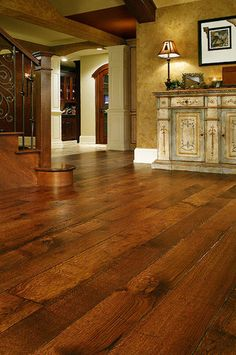 FLOORS - White Oak Floors - Live Sawn - traditional - wood flooring - other metro - by Allegheny Mountain Hardwood Flooring Solid Wood Flooring, Hardwood Floors, Oak Flooring, Wood Floor Design, White Oak Floors, Floor Colors, Wide Plank, Floor Decor, Decoration