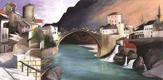 Csontváry Kosztka, Tivadar (Hungarian, - Roman Bridge at Mostar A4 Poster, Poster Prints, Budapest, Rio Grande, Sunny Afternoon, Post Impressionism, Art Database, Vintage Artwork, Nocturne
