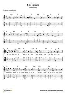 Leman Sam - Gül Güzeli - Nota - Tab - Gitar - Keman - Org - Flüt Accordion Sheet Music, Do Re Mi, Guitar Lessons, Music Notes, Flute, Music Sheets, Violin, Chart Songs, Flutes