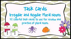 Fun way to teach and review irregular and regular plurals!  Common Core Aligned! $TpT
