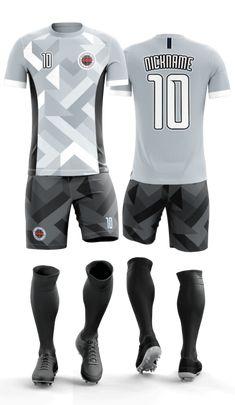 Sports Jersey Design, Sports Graphic Design, Football Shirt Designs, Football Design, Soccer Kits, Football Kits, Badminton Logo, Tri Suit, Soccer Uniforms