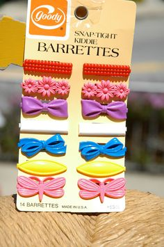 Vintage 1980s Goody Barrettes set of SIX by OddLittleHippo on Etsy