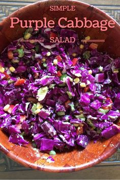 Purple Cabbage Salad recipe - Simple and easy clean eating recipe by a nutritionist.