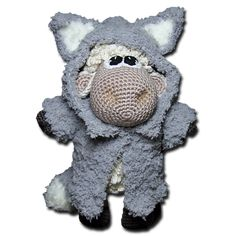 Sheep in Wolf's Clothing. Cute! Free pattern.