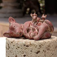 Ceramic figurine, 'Aztec Dog with Puppies' from @NOVICA, They help #artisans succeed worldwide.