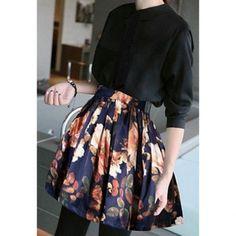 $15.97 Vintage Style Large Hem Floral Print Women's Skirt