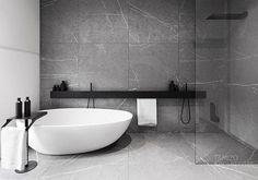 r-house (interior design), @ Pabianice by Tamizo Architects Bathroom Design Inspiration, Bad Inspiration, Modern Bathroom Design, Bathroom Interior Design, Minimal Bathroom, Design Ideas, Bathroom Designs, Modern Design, Modern Interior