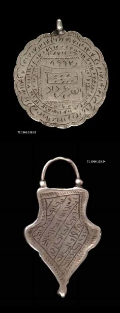 Iran - Lorestan | Amulet pendants; silver. // ©Quai Branly Museum.
