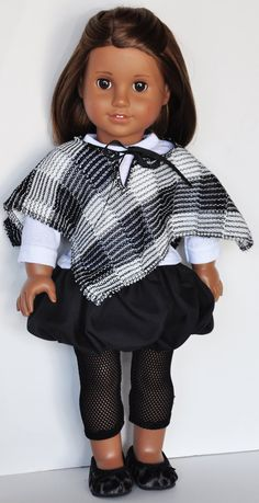 American Girl Clothes  Black & White by LoriLizGirlsandDolls, $26.00