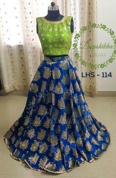 Indian Skirt, Indian Dresses, Ethnic Outfits, Indian Outfits, Anarkali Dress, Anarkali Suits, Lehenga Choli, Crop Top Dress, Dresses Kids Girl