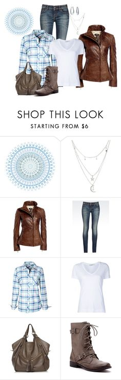 """""""Sunday Comfy Day"""" by melissa-markel ❤ liked on Polyvore featuring Charlotte Russe, Danier, Armani Jeans, ADAM, Sole Society and Bling Jewelry"""