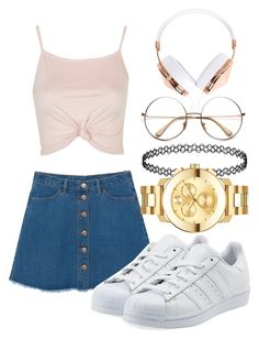 """""""."""" by taytaymor ❤ liked on Polyvore featuring Topshop, Monki, adidas Originals, Movado and Frends"""