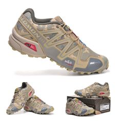 Salomon camo trail running shoes