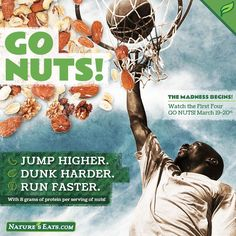Jump higher. Dunk Harder. Run faster. #gonuts #marchmadness