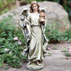 Guardian Angel Holding A Jar Garden Or Patio Statue Joseph Garden Collection