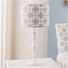 Gray Geometric Lamp with Shade