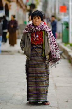 bhutanese woman street fashion bhutan