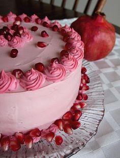 Fragrant Vanilla Cake: Pomegranate Vanilla Cake