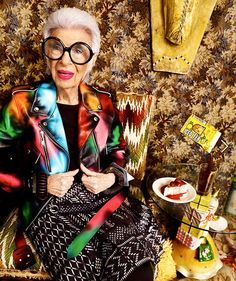 Saturday night style dreams via @iris.apfel from @ft_howtospendit #styleicon #muse #fashionicon #design #agelesschic #coolerthancool