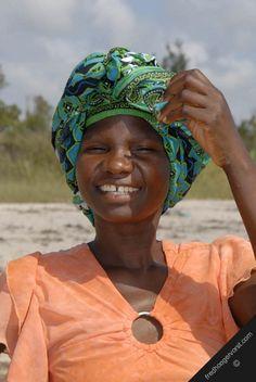 mozambique inhambane indian ocean coast fishery women wife-of fisherman on-the beach portrait vertical