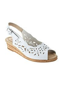 Spring Step Orella Sling Sandals :: Casual Sandals :: Shop now with FootSmart Wide Shoes, On Shoes, Shoes Heels, White Dress Shoes, Lolita Shoes, Big And Tall Outfits, Dressy Shoes, White Dresses For Women, Spring Step