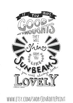Limited edition inspirational black and white typography print - Sunbeams