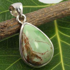 925 Solid Sterling Silver Natural VARISCITE Gemstone Stunning Pendant Handmade #SunriseJewellers #Pendant