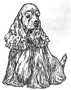 "Amazon.com: Dog Rubber Stamp - Cocker Spaniel-1E (Size: 1-3/4"" Wide X 2-1/4"" Tall): Arts, Crafts & Sewing"